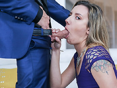 Sophia seductively sucked Filthys cock and allowed him entry into her used pussy