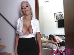 Busty blonde cougar plowed