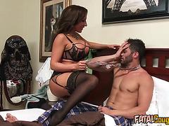 Fatal Cougar Bitch Fucks Hot Stud