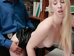 Rich bratty girl Darcie comply with the officers instructions