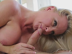 A cock a day makes this busty MILF happy