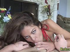 Milf With Big Boobs Pleasures Penis
