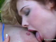 Naughty Preggo Lesbians in Action