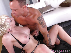 Faketit domina pegging sub and gets fucked