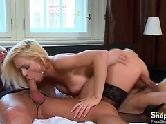 Spicy Blondie Gets Double Penetrated
