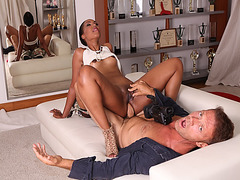 Rocco Siffredi enjoying a chocolate anal on top