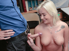 Officer offered Daisy to suck and fuck his horny cock in exchange of her freedom