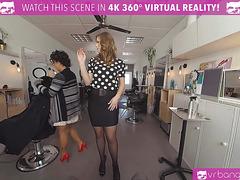 VRBangers.com Hot Hairdresser Ella Nova Fucked Hard and Facial