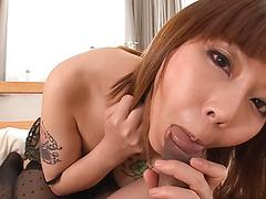 Minami Kitagawaґs shaved asian creampie in POV - More at javhd.net
