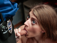 Teen Shoplifter Alyce gets her wet pussy banged by LPs huge cock