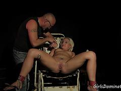 Filthy blonde enjoys hard BDSM - GirlsDominated