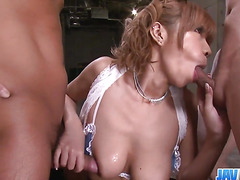 Busty MILF Sumire Matsu Slammed In A Threesome - More at javhd.net