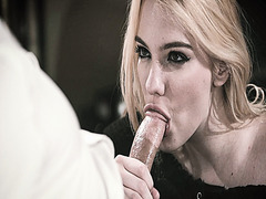Kenna James stroke and swallow that thick virgin cock