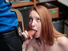 Katy Kiss caught shoplifting with her friends and gets fucked