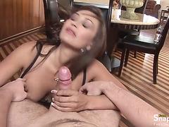 Pov Porn With a Busty Milf Sucking Cock