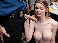Officer explode his jizzed over Nadyas face