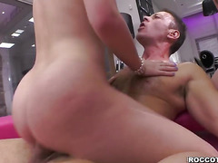 Liona Levi and Danielle Soul open wide for meaty dick to bang