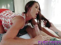 Milf rides stepsons cock