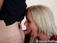Stepmom gets tits spermed