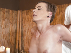 Beautiful massage beauty fucked from behind