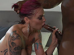 Busty bombshell Anna Bell Peaks fucked hard by a BBC