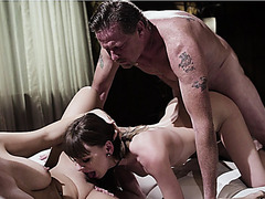 Dick swap her daugter to Alex's parents, and now he has a family to fuck