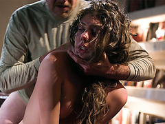 Elena Koshka is reluctant to having sex with old scumbag!