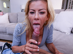 Stepsons young cock got sucked then got paid