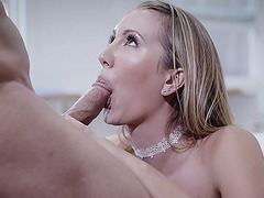 Sexually harassed big titted blonde babe Brett Rossi!