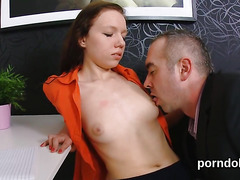 Innocent schoolgirl is seduced and drilled by older mentor