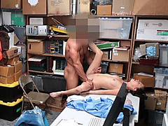 Security Fucks Luscious Bratty Babe in the Office