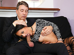Latina goth stepdaughter gets analed by stepdads cock