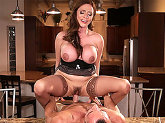 Cheating busty wife gets punish fucked by her husband