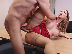 Office babe pussy fingered and slammed by her coworker