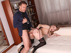 Rocco Siffredi analed hot russian blonde while shes casting