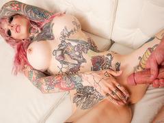 Crazy tattooed vamp Sydnee Vicious likes it hard and deep!