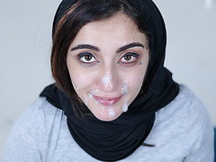 Big tittied Jezebeh submits herself to her sisters boyfriend to have a big load on her face