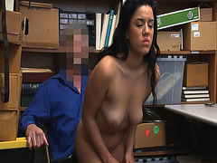 Monica Sage gets fucked from behind by the LP Officer