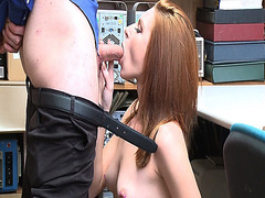 The perv LP Officer feeds Jaycee Starr with his humongous rod