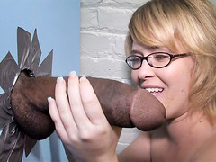 Sasha Knox Spends Some Time With Her First Big Black Cock - Gloryhole