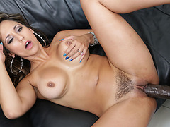 Sexy brunette Reena Sky gets her tight pussy penetrated by stud Lexington