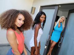 Bridgette B, Cecilia Lion & Kandie Monaee Lesbian Threesome