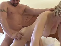 Big tit amateur blonde wife fucks her husband