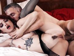 Sexy Goth schoolgirl Lola Fae gets an ANAL