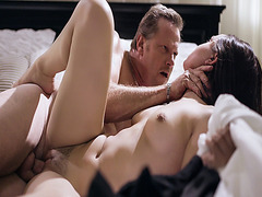 Horny mature romping Alina Lopez sweet pussy after giving him a blow