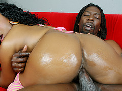 Tiffany Staxxx Bouncing That Phat Black Booty While Riding Cock