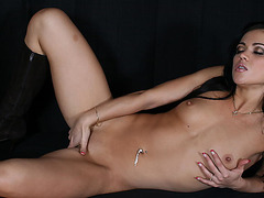 Mandy More masturbating her pussy