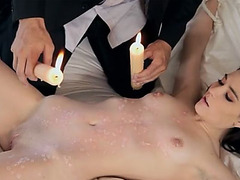 Hot candle wax and a nice special fuck what she likes