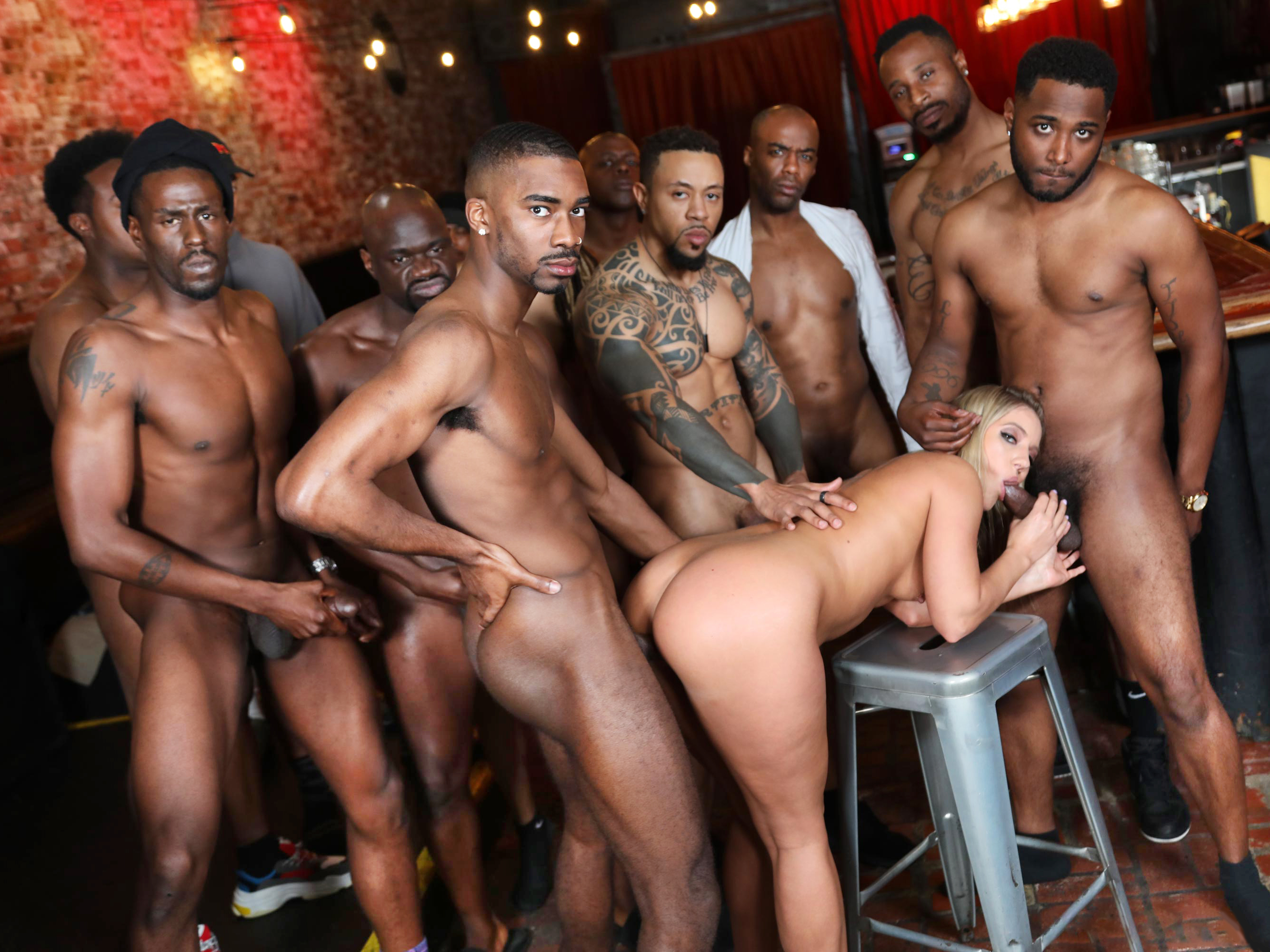 Interracial orgy with the neighbors
