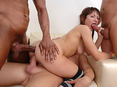 Gorgeous slut Anita Hengher gets fucked hard by four horny dudes